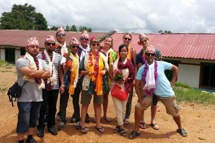 Group of medical volunteers in Nepal
