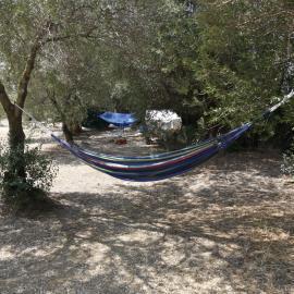 Hammock at volunteer house in Argostoli