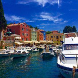 View of Veli Losinj marina in Croatia