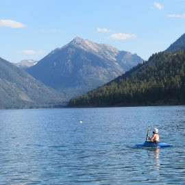 Volunteer kayaking in Oregon in free time