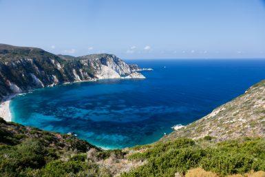 Lixouri coastline in Greece