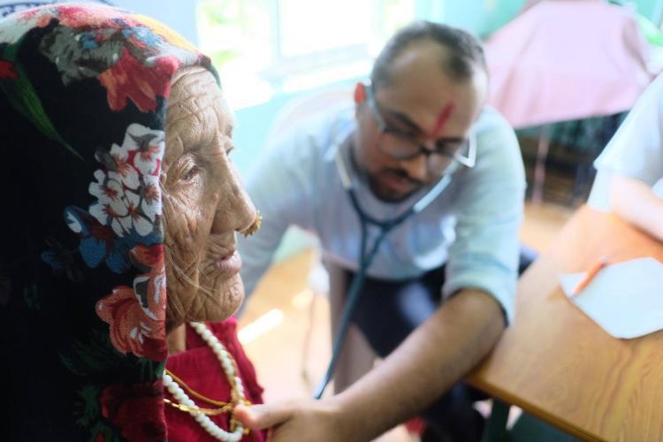 Health camp volunteer in Nepal