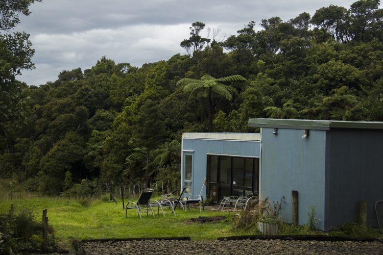 Huts at New Zealand Nature Reserve