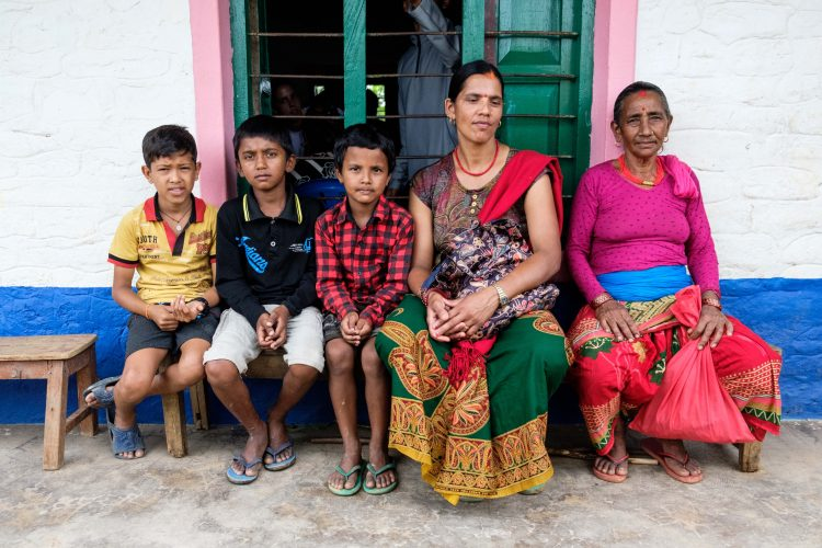 Nepalese family at medical camp