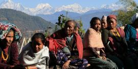 Family at a medical camp in Nepal