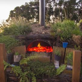 Pizza oven at New Zealand nature sanctuary