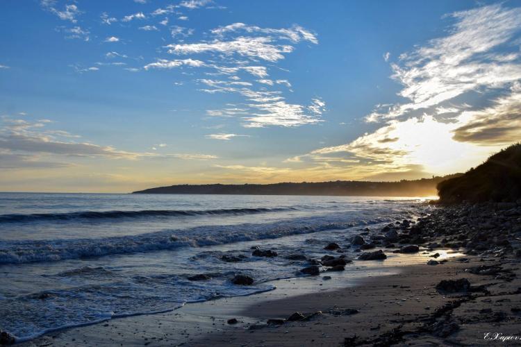 Sunset on coast Kefalonia