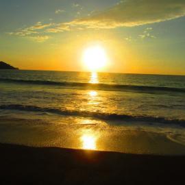 Pacific sea sunset Costa Rica