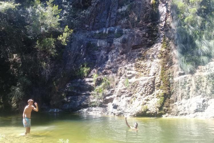 Swimming in Kariega in free time