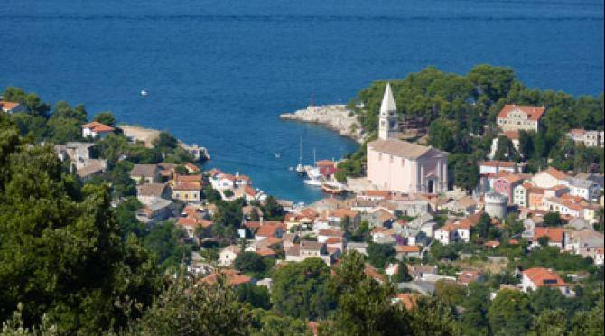 View of Veli Losinj from above