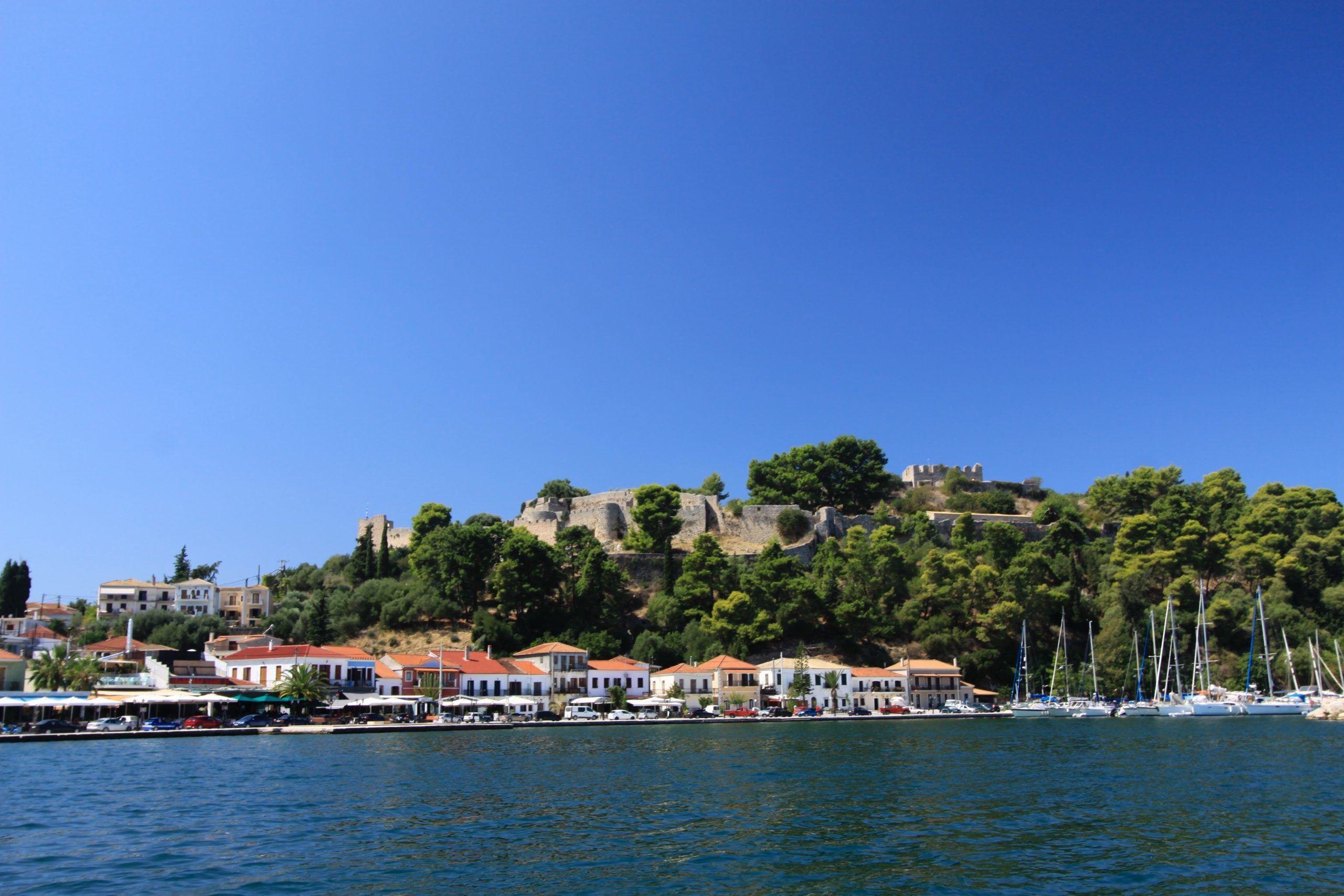 View of Vonitsa harbour from the boat