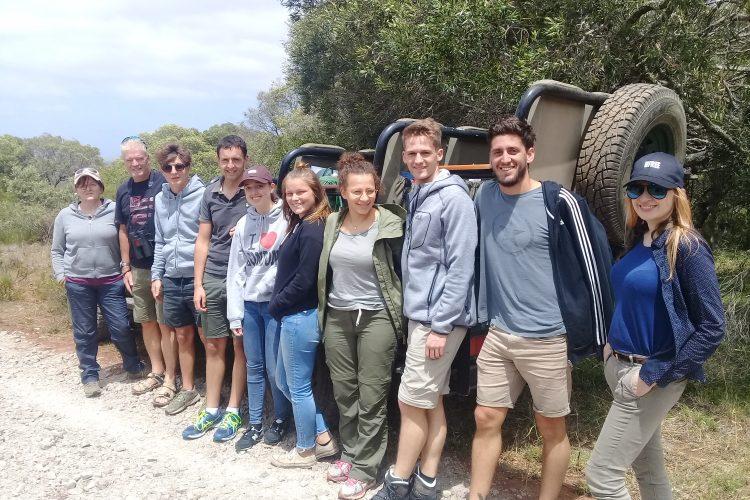 Group of volunteers at Kariega Game reserve