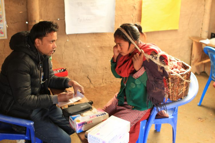 Volunteer at health camp in Nepal