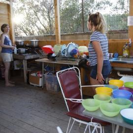 Volunteers in kitchen in Argostoli