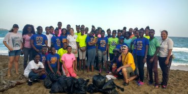 Beach cleanup in Grenada