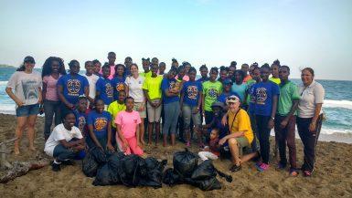Beach cleanup in Grenada