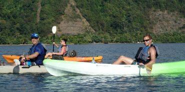 Volunteers kayaking in Costa Rica