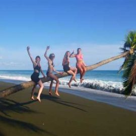 Volunteers on beach Costa Rica