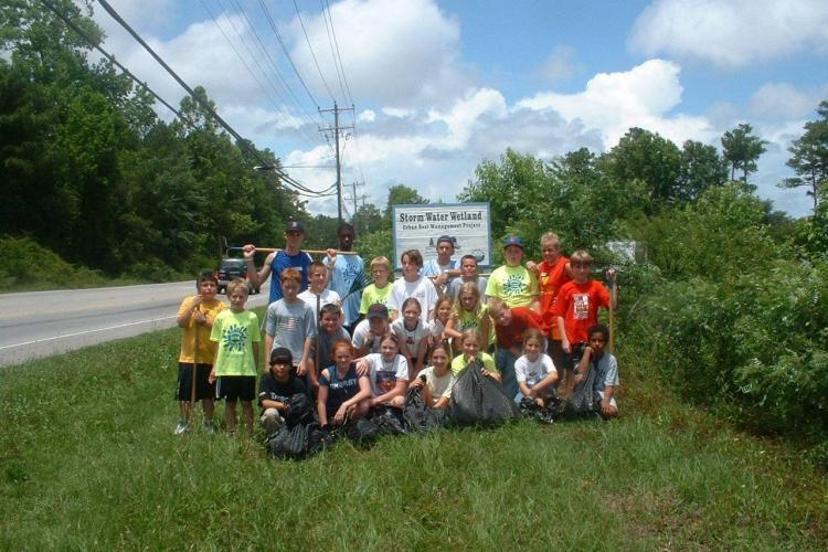 Cape fear river management project with kids