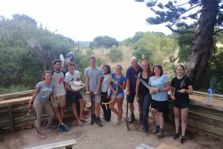 Volunteers working at game reserve in South Africa