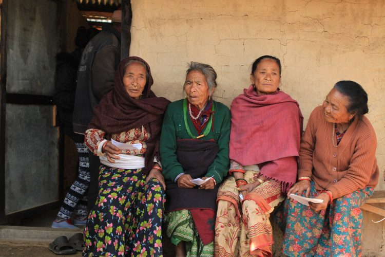 Nepalese women at a medical camp
