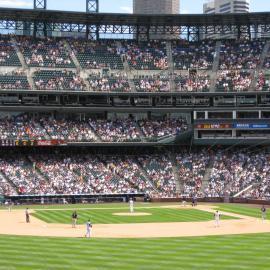 Baseball game in Denver