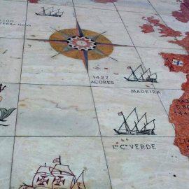 Portuguese explorers map