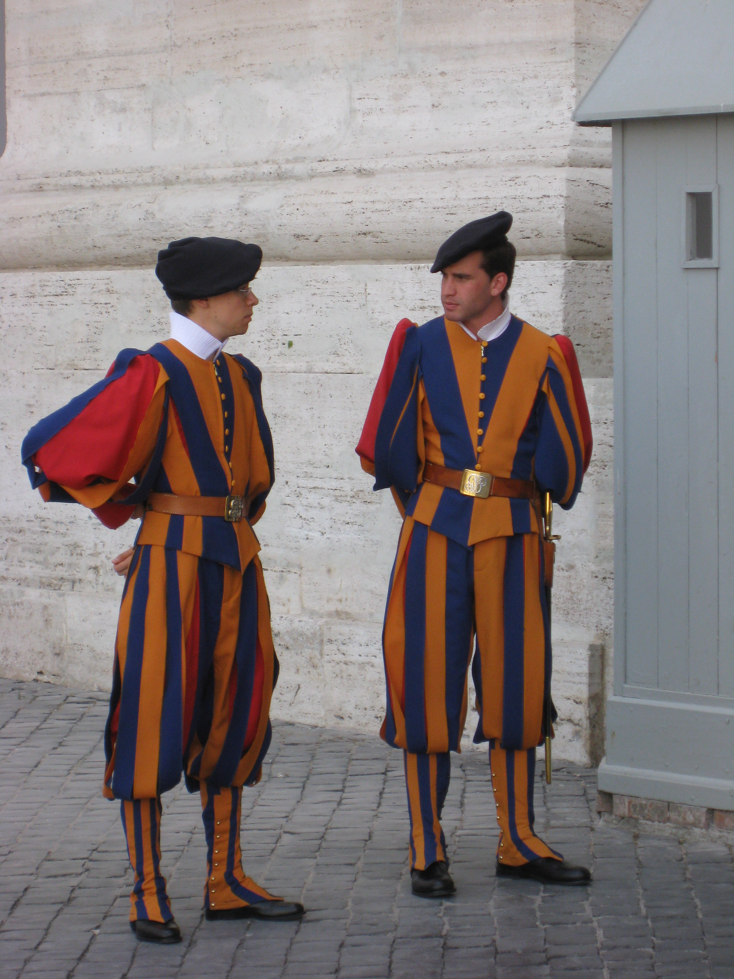 Guards at St. Peters Church in Italy