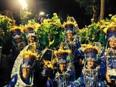 Volunteers at Brazil carnival