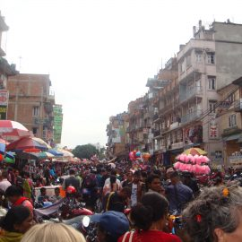 Busy street in Kathmandu