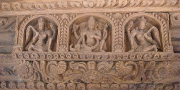 Buddhist carvings in Nepal