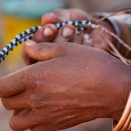 Himba beads in Namibia