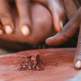Himba red ochre in Namibia