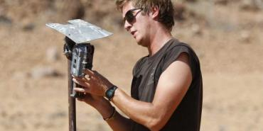 Setting camera traps for Leopards in Namibia
