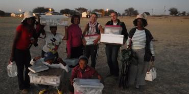 Volunteers working at medical clinic in Namibia