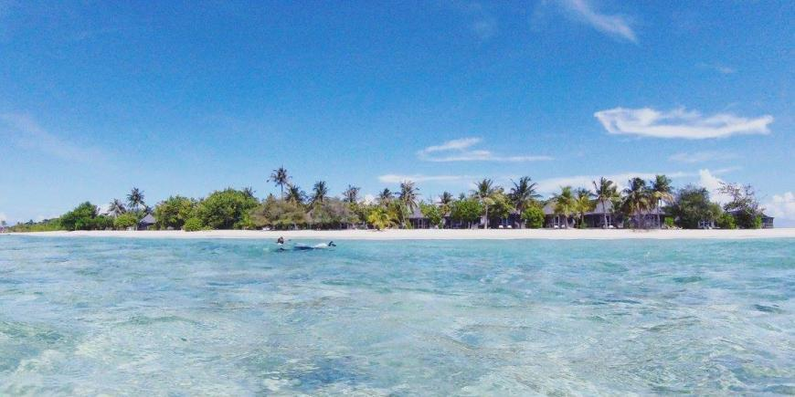 Maldives beach island