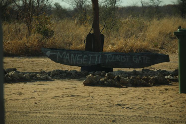 Tourist gate in Mangetti volunteer programme