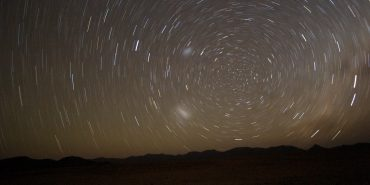 Night sky and stars in Namibia
