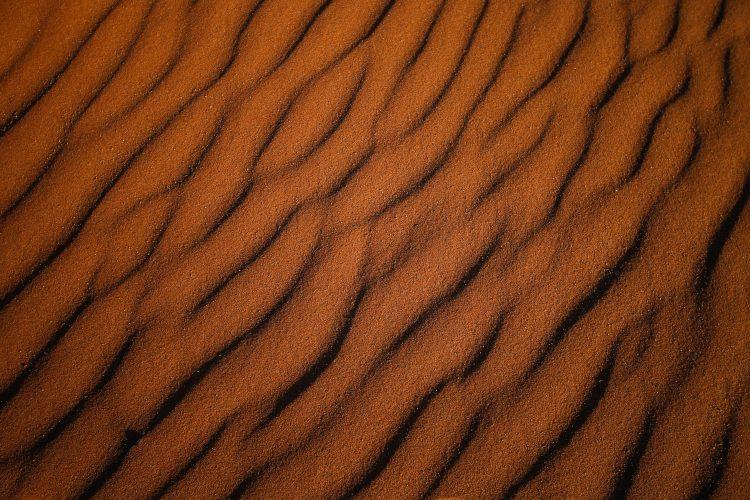 Red desert sand from the Namib Desert