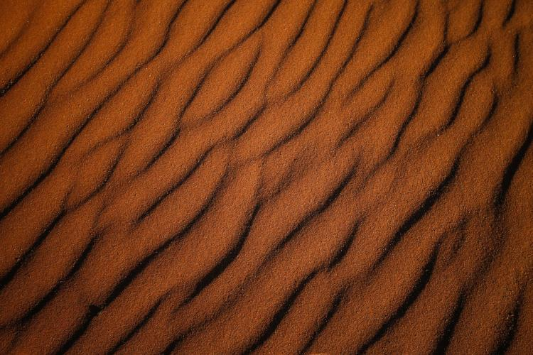 Red desert sand from the Namib Desert