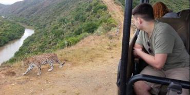 Researching leopards at Shamwari