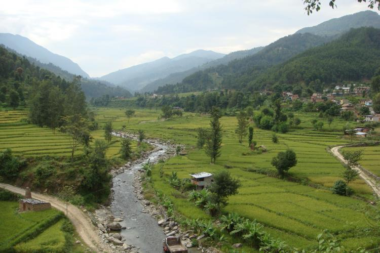 Trisuli river in Nepal
