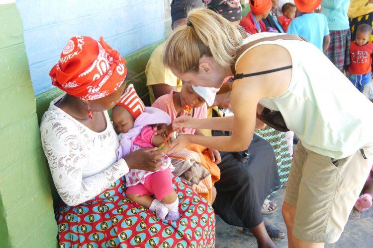 Volunteers doing medical work in Namibia