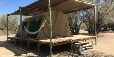 Volunteer sleeping arrangements in Neuras in Namibia