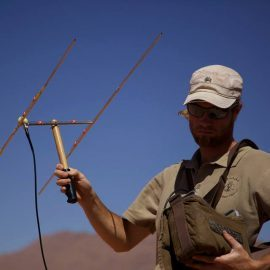 Telemetry tracking in Kanaan Desert for carnivores