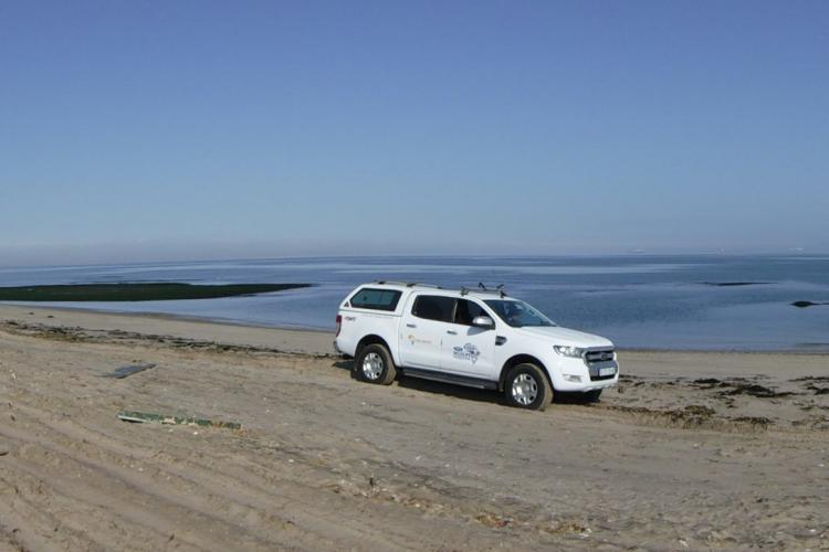 Research car in Namibia
