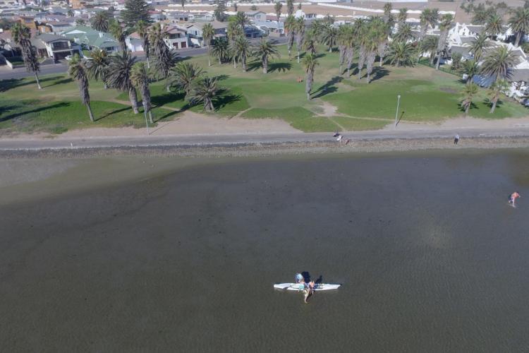Aerial shot of Walvis Bay lodging for volunteers