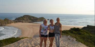 Volunteers in free time hiking Robberg Nature Reserve