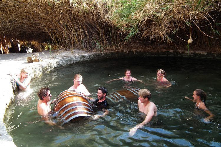 Swimming in the natural springs at Neuras in Namibia