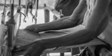 Thai woman weaving